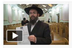 Ukrainian rabbi denounces anti-semitic leaflet